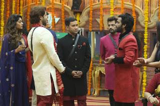Bigg Boss 10 Contestants and Dinesh Lal Yadav 'Nirahua' at Bhojpuri Actress Monalisa & Vikrant Singh Wedding in Bigg Boss 10 House.