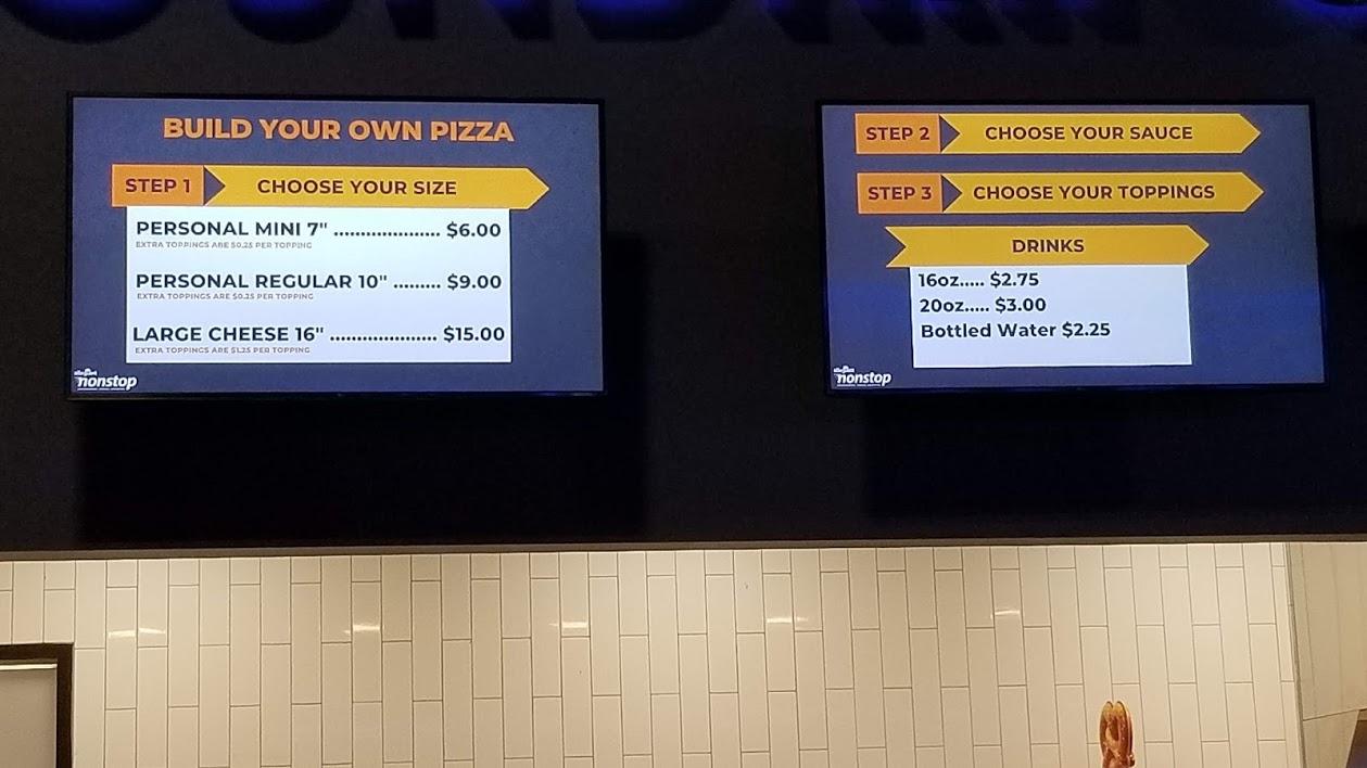 pizzas, allegiant nonstop