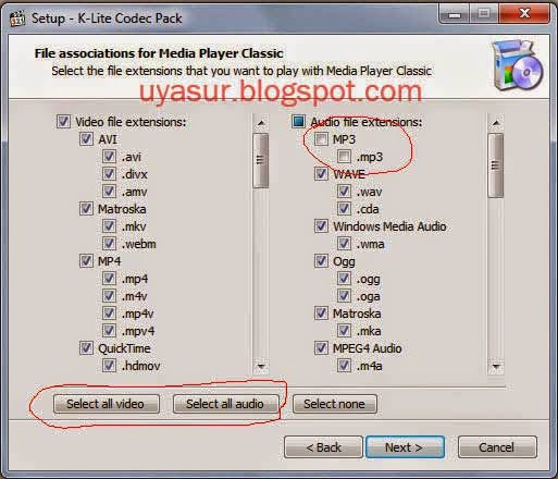 bagian file associations for media player classic