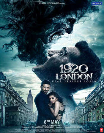 Poster Of 1920 London 2016 Hindi 700MB DVDRip ESubs Watch Online Free Download Worldfree4u