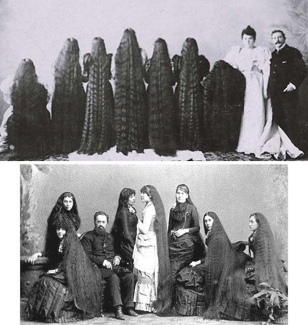 Fotografias das Irmãs de Sutherland, artistas de Freak Shows.