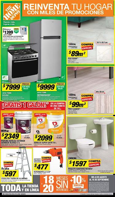 Home Depot catalogo baños  | ofertas Agosto 2020