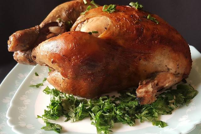 الدجاج المشوي في الفرن بابسط طريقة