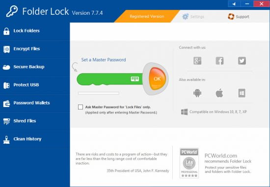 Folder Lock 7.7.4 With License Keys