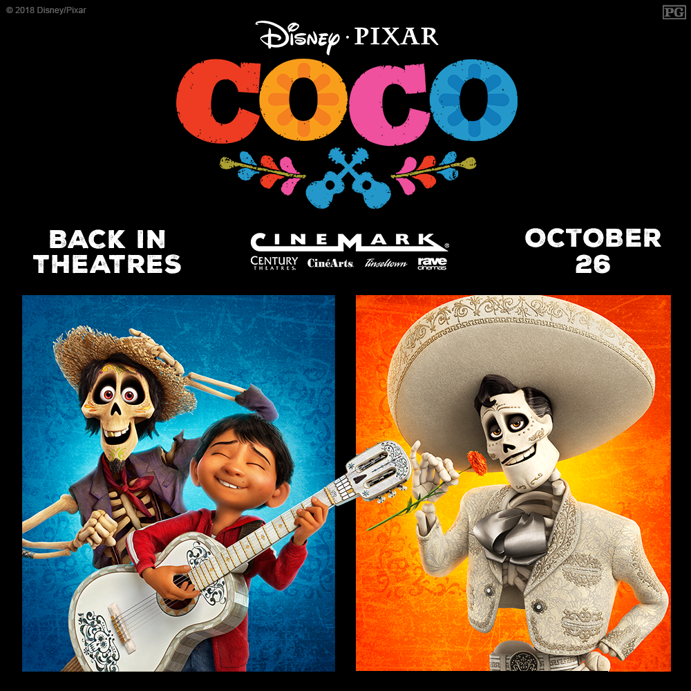 THE NIGHTMARE BEFORE CHRISTMAS, HOCUS POCUS & COCO - Returning to Theatres Halloween Weekend!  via  www.productreviewmom.com