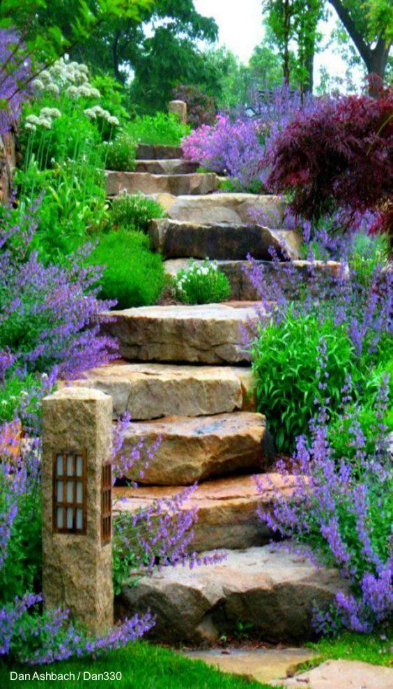 Arquitectura de casas dise os de casas hechas de piedra - Escaleras de piedra ...
