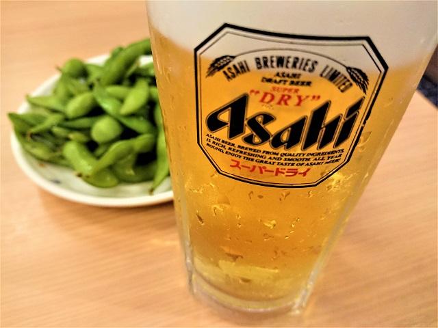 蘭々の湯 生ビールセット(枝豆)
