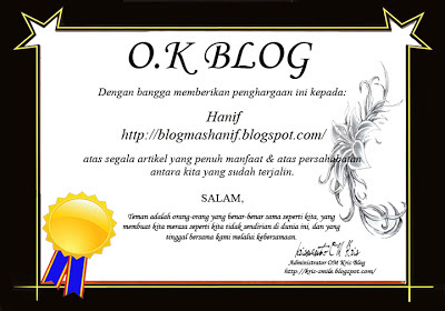 Blogs mas Hanif