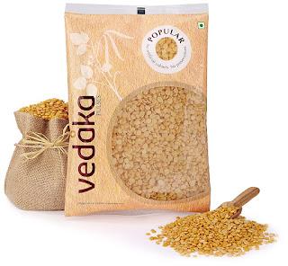 Vedaka Popular Toor Dal, 1kg