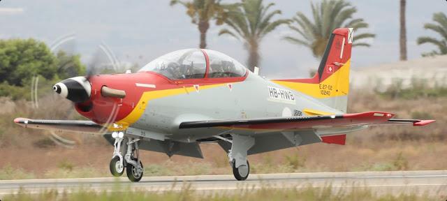 Llegan a España los primeros aviones Pilatus PC-21 de entrenamiento avanzado