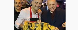 بالفيديو : أردوغان في ضيافة الشيف بوراك في مطعمه