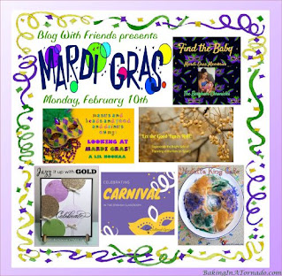 Blog With Friends, a multi-blogger project based post incorporating a theme, Mardi Gras | Featured on www.BakingInATornado.com