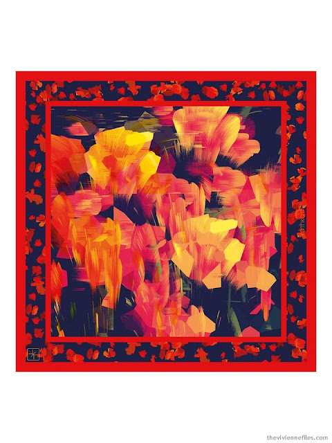Red Tulip scarf from KathKath