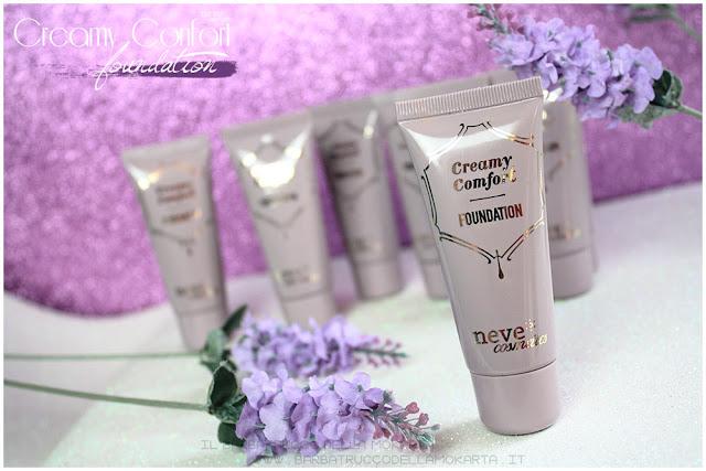 creamy confort foundation Fondotinta Neve Cosmetics recensione review