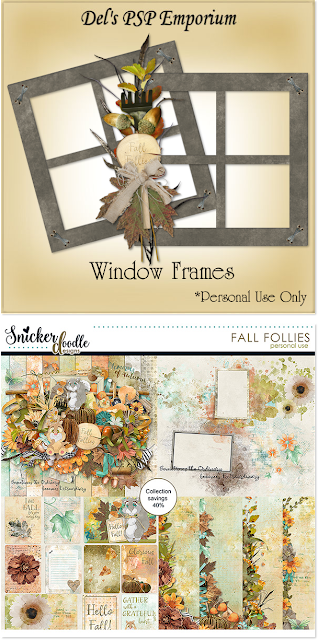 Fall Follies Window Frames
