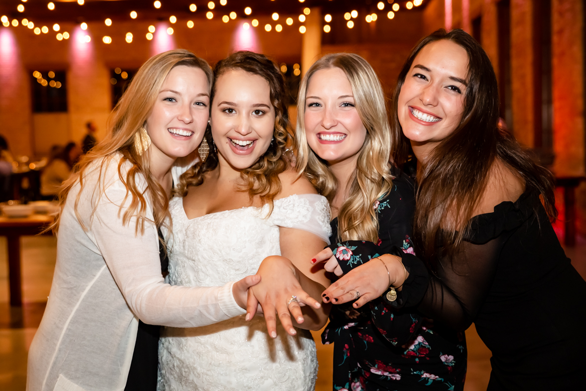 Bride Having Fun With Friends