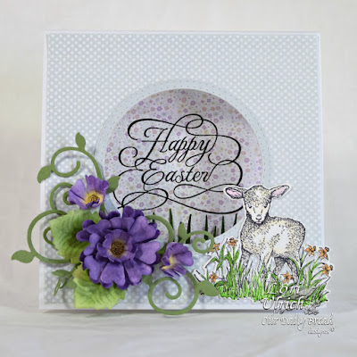 Our Daily Bread Designs Stamp Sets: Flourished Happy Easter, The Shepherd, Our Daily Bread Designs Paper Collections: Pastel Paper Pack 2016, Easter Card Collection 2016, Our Daily Bread Designs Custom Dies: Little Lambs, Fancy Foliage, Pretty Posies, Double Stitched Circles