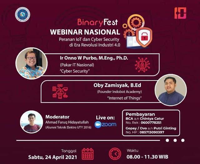 Webinar Nasional - Binary Fest