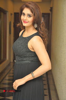Actress Surabhi Stills in Black Long Dress at turodu Audio Launch  0061.JPG