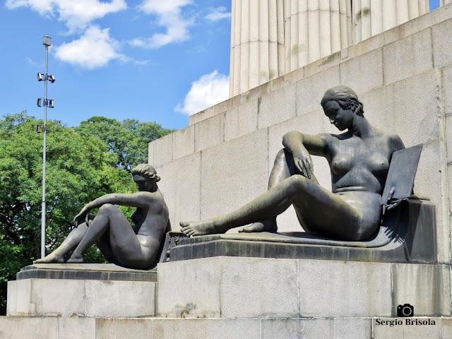 Musas da Arquitetura e da Pintura - Monumento a Ramos de Azevedo