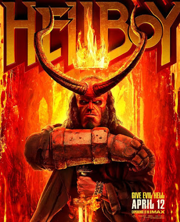 Poster Of Free Download Hellboy 2019 300MB Full Movie Hindi Dubbed 720P Bluray HD HEVC Small Size Pc Movie Only At worldfree4u.com