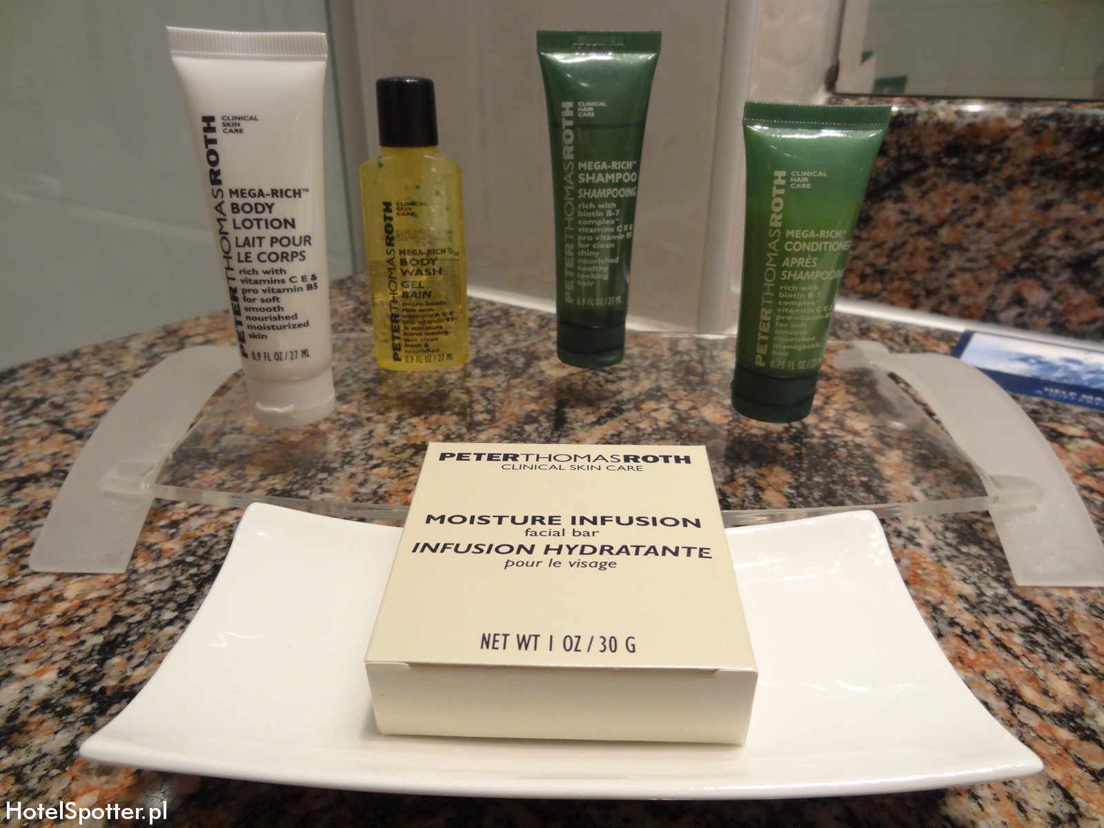 Hilton Budapest hotel recenzja review kosmetyki peter thomas roth