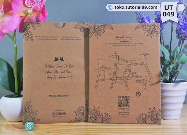 Undangan pernikahan UT049 - Single Hard Cover Amplop +free kartu ucapan terima kasih