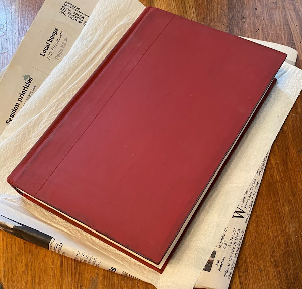 Photo of a book painted red