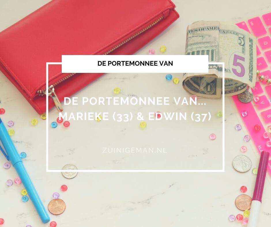 De portemonnee van Marieke (33) en Edwin (37)