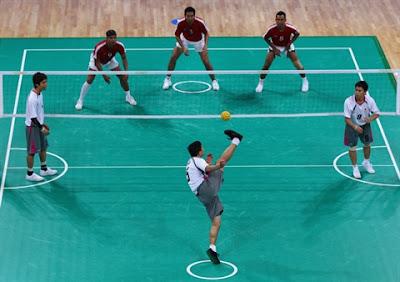 Lapangan, Peraturan dan Teknik Dasar Permainan Sepak Takraw