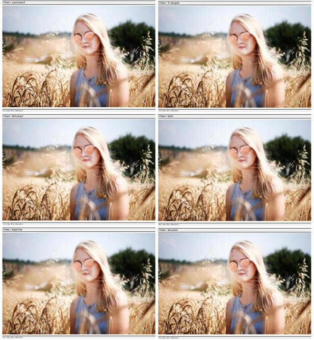 opzioni di allargamento della foto