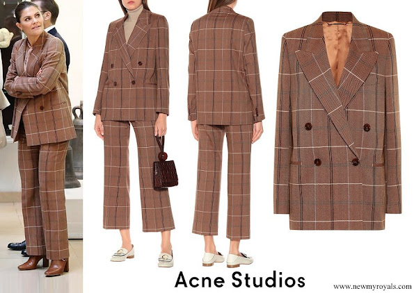 Crown Princess Victoria wore ACNE STUDIOS wool and cotton blend suit