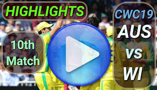 AUS vs WI 10th Match