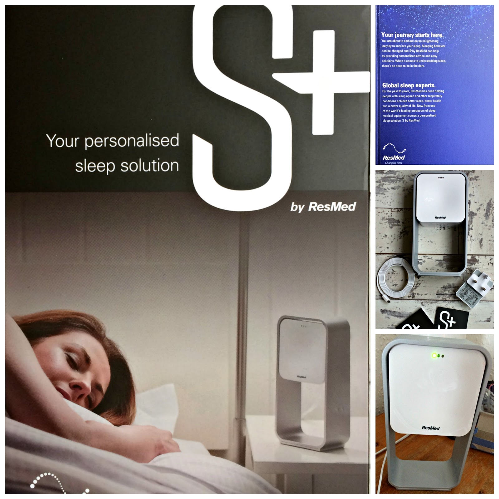Collage of S+ Sleep System by ResMed