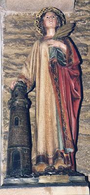 San Tirso, Oviedo, iglesia, Santa Bárbara