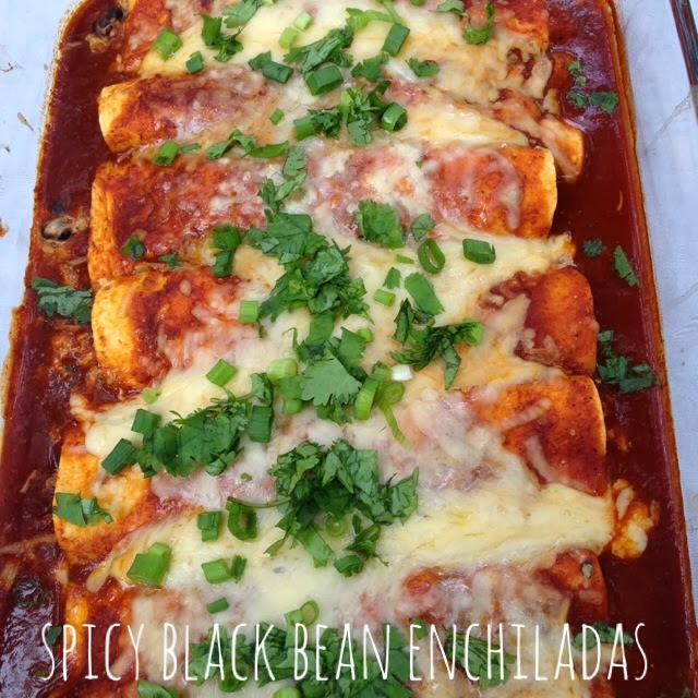 Think, spicy black bean enchiladas recipe for that