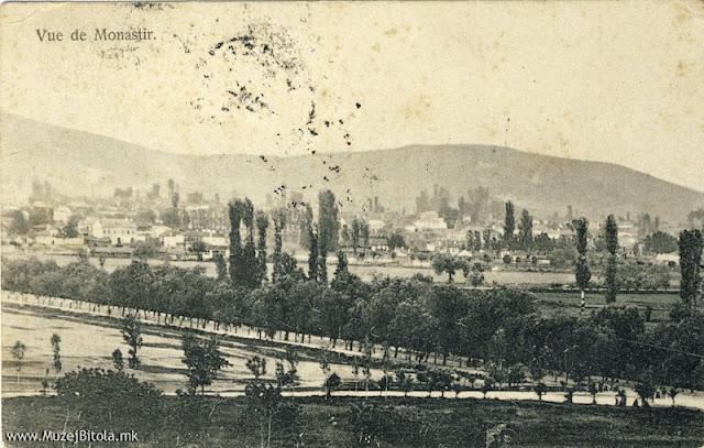 Панорама на Битола од Тумбе Кафе од 1908 година.