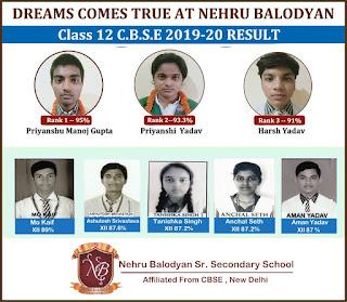 DREAMS COMES TRUE AT NEHRU BALODYAN | Class 12 C.B.S.E. 2019-20 RESULT | Nehru Balodyan Sr. Secondary School Affiliated From CBSE, New Delhi  | #NayaSaveraNetwork