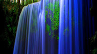 blue waterfall, nature wallpaper