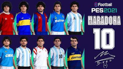 PES 2021 Facepack Diego Maradona Collection