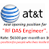 """opening position for """"RF DAS Engineer""""."""