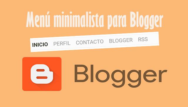 Menú minimalista para Blogger
