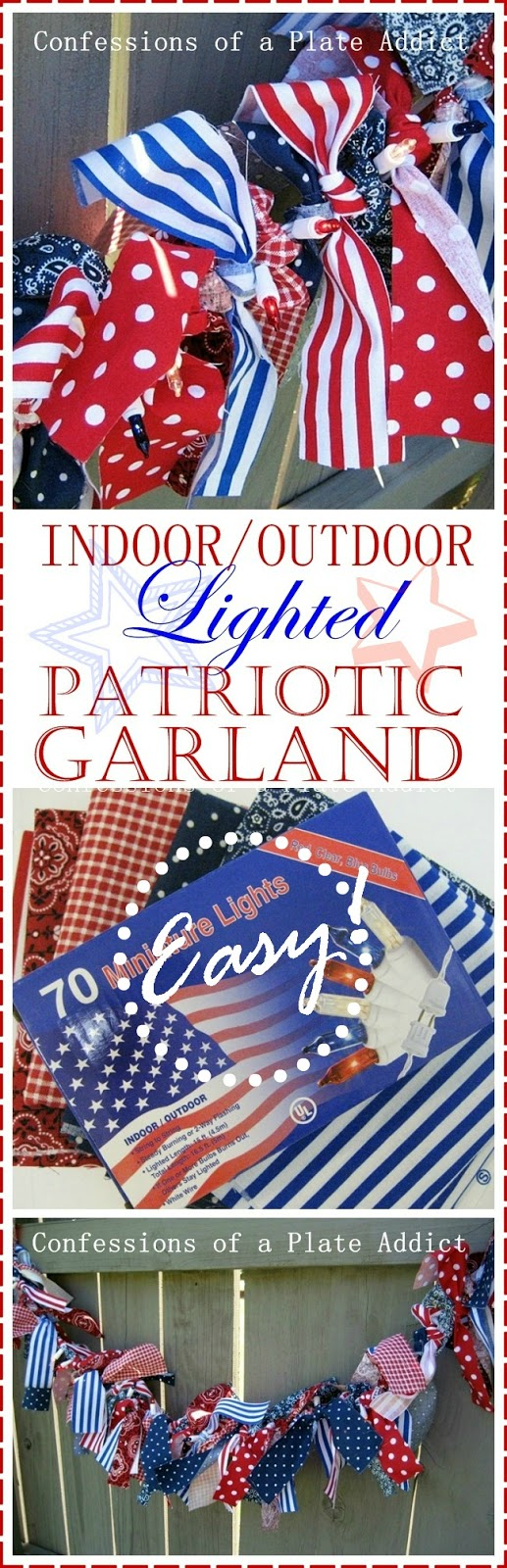Lighted Outdoor Garland Confessions of a plate addict indooroutdoor lighted patriotic garland workwithnaturefo