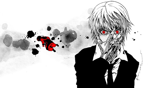 wallpaper hunter x hunter kurapika black, white, red