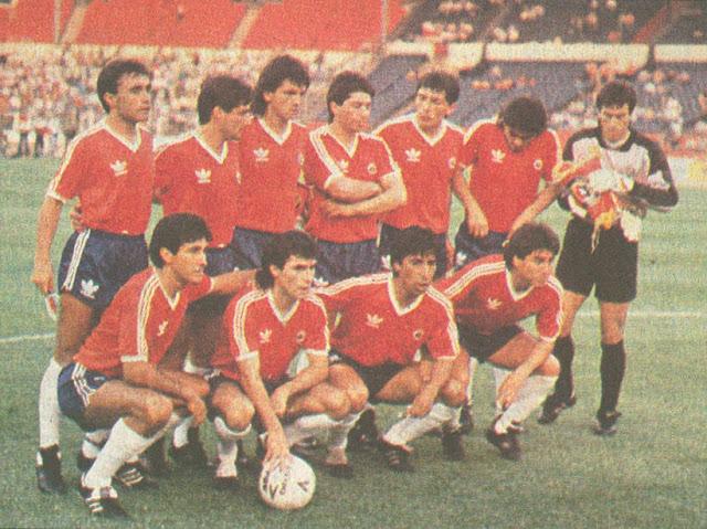 Formación de Chile ante Inglaterra en Rous Cup, 23 de mayo de 1989