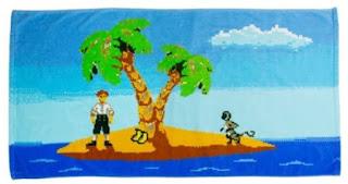 Toalla de baño Monkey Island