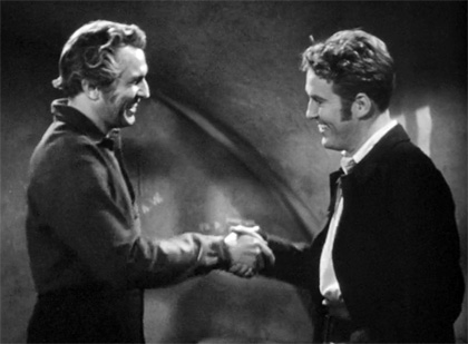 Still - Vincent Price and Dick Foran in The House of the Seven Gables (1940)
