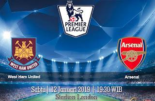Prediksi West Ham United vs Arsenal 12 Januari 2019