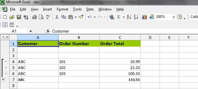 sort values in excel formula