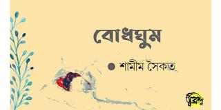 শামীম সৈকত-এর কবিতা 'বোধঘুম'